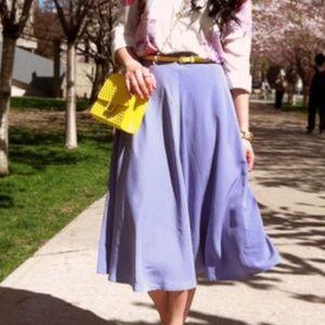 American Apparel • Lavender A-Line Midi Skirt.